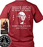 Sons of Libery Washington Didn't use his Right to Free speec Red/LRG T-Shirt.