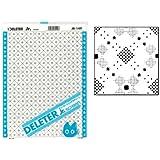"""Deleter Screen Tone Jr JR-149 [Geometric Squares Pattern][Sheet Size 182x253mm (7.16""""x9.96"""")] For Comic Manga Illustration Graphic Screentone"""