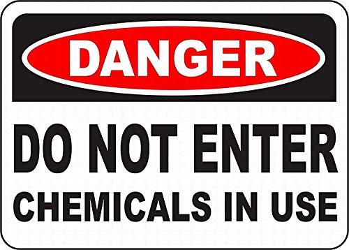 使用中の化学物質を入力しないでください 金属板ブリキ看板警告サイン注意サイン表示パネル情報サイン金属安全サイン