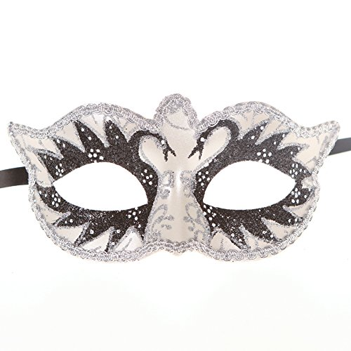 [Xvevina Luxury Mask Women's Venetian Masquerade Party Decorative Mask (black swans)] (Black Swan Costumes For Halloween)