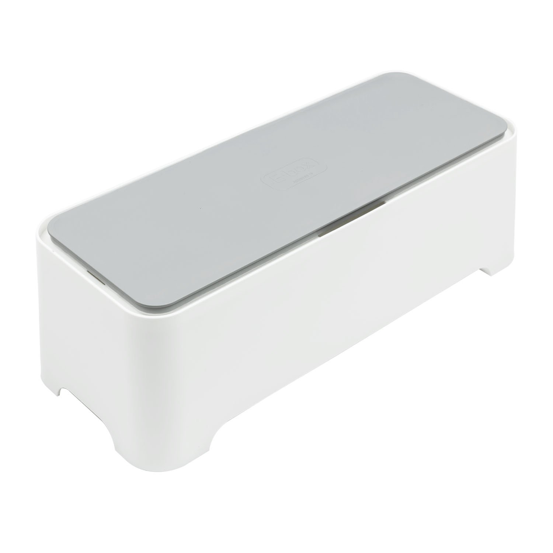 Curver - Caja Ebox Mediana Organizador de Cables Rectangular - Color Blanco / Gris product image