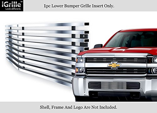 APS For 2015-2018 Chevy Silverado 2500HD/3500HD Stainless Bumper Billet Grille (Silverado Stainless Steel Billet Grille)