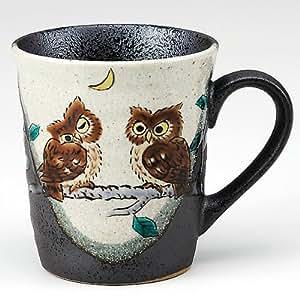 Amazon Com Kutani Yaki Ware Coffee Mug Owl Kitchen Amp Dining