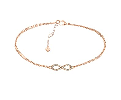 Rose Gold Crystal Infinity Bracelet Infinity Symbol Friendship