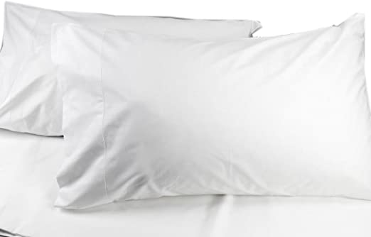 Manufactura Toscana - Juego de sábanas de algodón teñido - Color Blanco - para Cama de Matrimonio - Medidas 180 x 200 cm + 2 Fundas de Almohada con Dobladillo: Amazon.es: Hogar