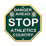 """Oakland Athletics A's 12"""" Plastic Wall STOP Sign Country Baseball"""
