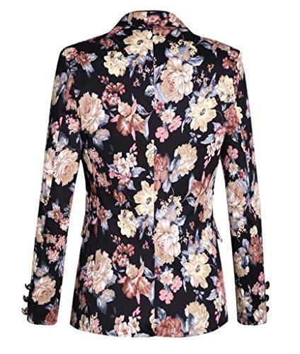 b3c91a3412bb9 MOGU Mens 1 Button Floral Cotton Blazer Sport Coat Jacket – Cloud lite s