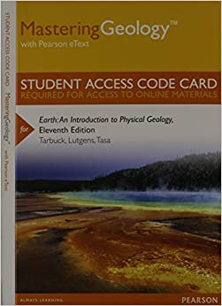 Masteringgeology with pearson etext standalone access card masteringgeology with pearson etext standalone access card for earth an introduction to physical geology 11th edition student edition fandeluxe Gallery