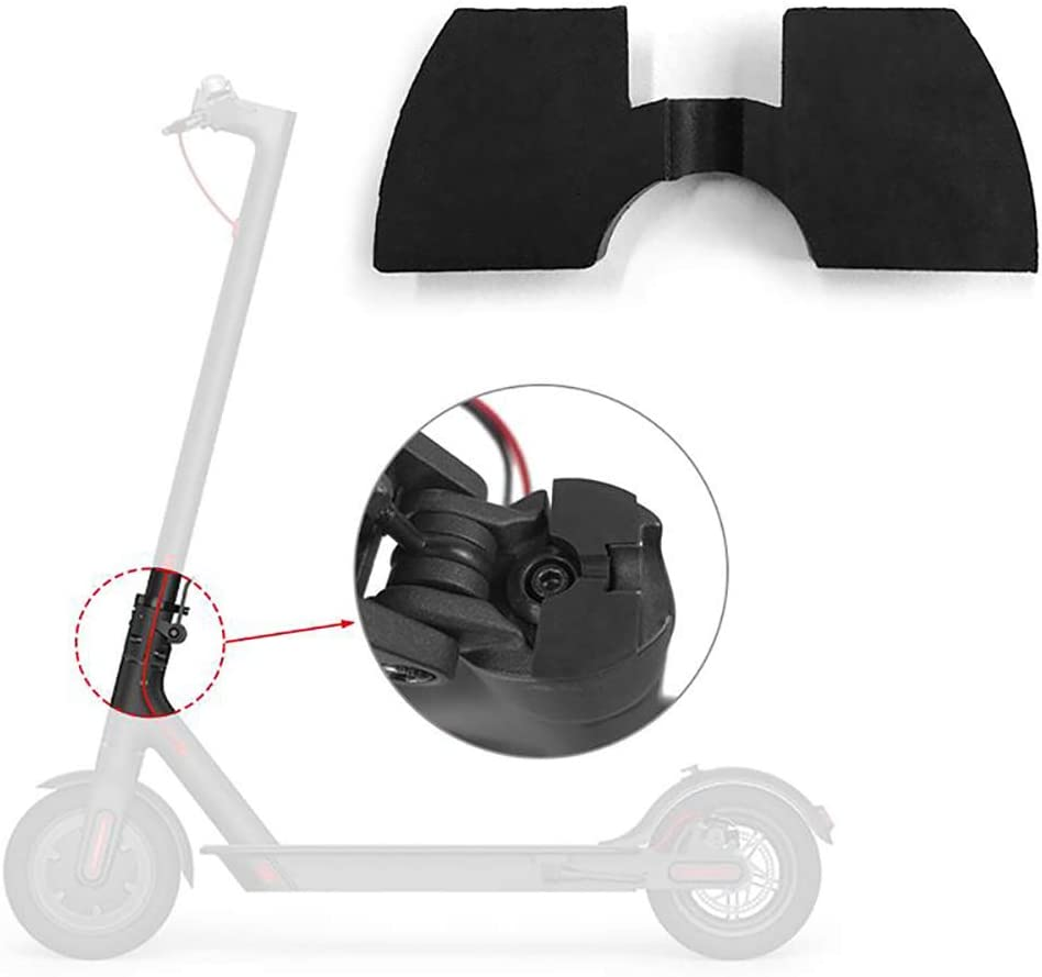 Konesky Amortiguador de Goma Patinete Electrico 3D Flexible Almohadilla de Amortiguación de Absorción de Vibraciones Batido Cojín 0.6 + 0.8 + 1.2mm con Junta Trasera Aumentada para Xiaomi M365