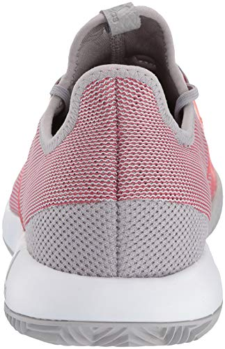 adidas Women's Adizero Defiant Bounce, Light Granite/Shock red/White 6 M US by adidas (Image #2)