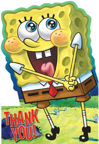 (Designware Spongebob Thank You Notes w/ Envelopes)