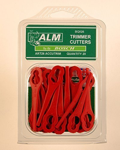 100 x ALM Plastic Trimmer Blades BQ026 (Red) Suitable for Einhell CMI MacAllister Bosch Güde