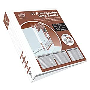 FIS Presentation Binder 4D Ring, A4 Size, 65mm Ring Size, 3.75 Inch Spine Colonne - FSBD465DPB