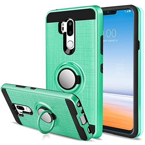 LG G7 Case LG G7 ThinQ Case with HD Screen Protector,Anoke Cellphone LG G7 ThinQ 360 Degree Rotating Ring Holder Kickstand Scratch Resistant Drop Protective Cover for LG G7 2018 ZS Mint