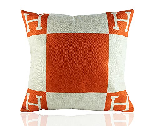 me-coo-h-pillow-case-logo-h-letter-cartoon-classical-geometric-lattice-blend-cushion-cases-throw-pil