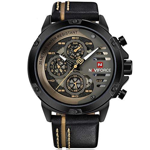 Waterproof Leather Sport Men Wrist Watch