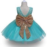 FKKFYY Lace Backless Girl Dresses for Kids