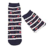 1 Pairs Christmas Women Winter Warm Knit Cotton Socks Low Cut Ankle Socks for flats Ladies Crew Socks