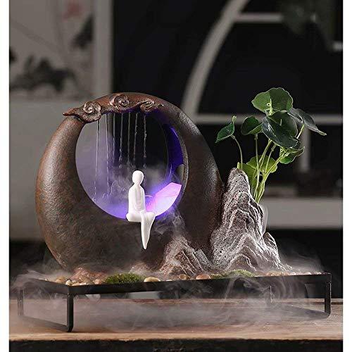 LMCLJJ 屋内屋外ポータブル卓上装飾禅瞑想滝キット滝卓上噴水用ホームオフィスの装飾