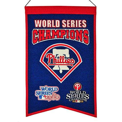 (Winning Streak MLB Philadelphia Phillies WS Champions Banner, One Size)