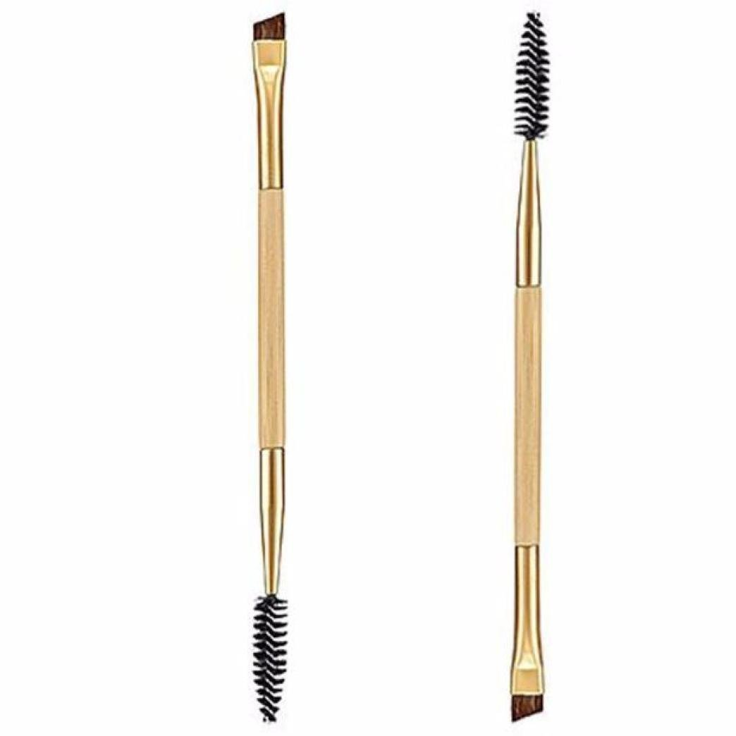 2PCS Makeup Plastic Handle Double Eyebrow Brush + Eyebrow Comb Doyeemei