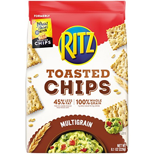 Ritz Toasted Chips, Great Plains Multigrain, 8.1 Ounce (Pack of 6)