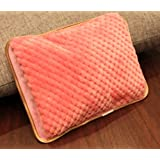 Pink pineapple grid electric heating electric Po Po warm hands treasure double insert electric heating can be dry water can be water