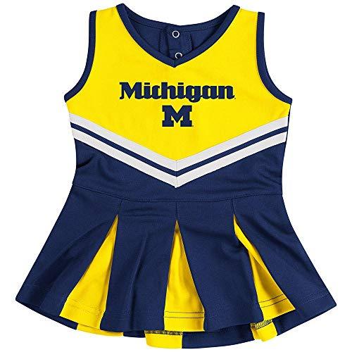 Dress Piece Cheerleader 2 (Colosseum University of Michigan Wolverines Cheerleader Infant Girls Cheer Set (3-6 M))