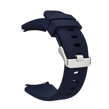 MroTech 22mm Correa de Reloj Silicona Compatible para Samsung Galaxy Watch 46mm/ Gear S3 Frontier/Classic/Amazfit Pace/Stratos/Huawei Watch GT ...