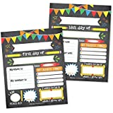 10 Colorful First and Last Day of School Interview Signs, Back to School Photo Booth Prop Color, 1st Preschool, Kindergarten, Pre K Grade, Reusable Reversible Girl Boy Kid Child Year 8x10 Card Stock