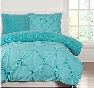 marvelous blue sky bedroom country styl | Amazon.com: 3 Piece Kids Teens Full Queen Aqua Blue ...