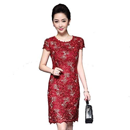 Verano Ropa De Mujer Hilados De Bordado De Vestir Multi-color Multi-tamaño Red2