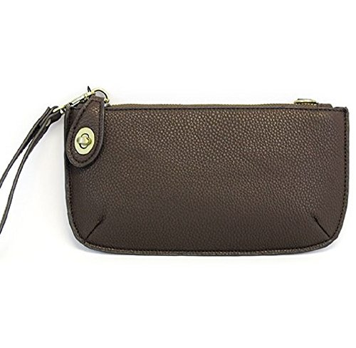 Mini Crossbody Wristlet Clutch (CHOCOLATE)