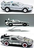 Back To The Future Trilogy Hot Wheels TIME MACHINE Delorean Part 1 / Part 2 Hover Mode / Part 3 1955 Version 3-Pack Retro Entertainment Series Cars