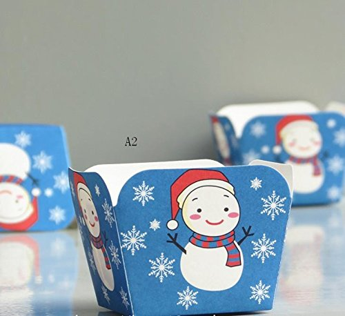 Christmas high temperature resistant cup the hokkaido chiffon cake paper cup 100pcs