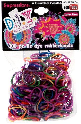 Amazon expressions girl diy 300 piece tie dye latex free expressions girl diy 300 piece tie dye latex free rubber band bracelet loom solutioingenieria Image collections