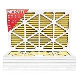 16x25x1 MERV 11 ( MPR 1000 ) Pleated AC Furnace Air Filter - 6 Pack