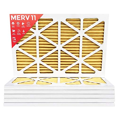 12x24x1 MERV 11 ( MPR 1000 ) Pleated AC Furnace Air Filter - 6 Pack by Filters Delivered