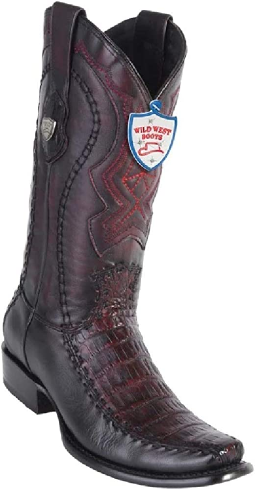 Wild West Genuine PYTHON SNAKE Western Cowboy Boot Square Toe Handcrafted