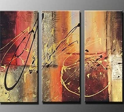 Lines Abstract oil paint Reprint On Framed Canvas Wall art Home Decoration