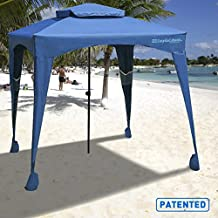 EasyGo Cabana - 6' X 6' - Beach Umbrella & Sports Canopy keeps you Cool and Comfortable. Easy Set-up and Take Down. Large Shade Area. More Elegant & Classier than Beach Umbrella - Navy