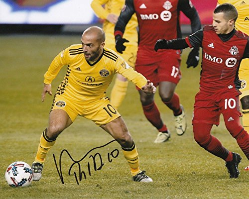 Autographed Federico Higuain Photograph - FEDERICO MLS 8X10 W COA #3 - Autographed Soccer Photos