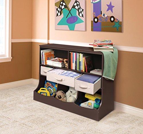 Badger Basket Combo Bin Storage Unit with Three Baskets, Espresso by Badger Basket (Image #2)
