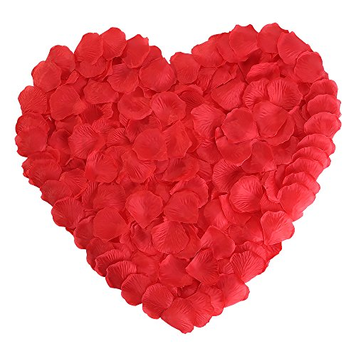 Red Rose Petals Silk Flower for Wedding Proposal Decorations