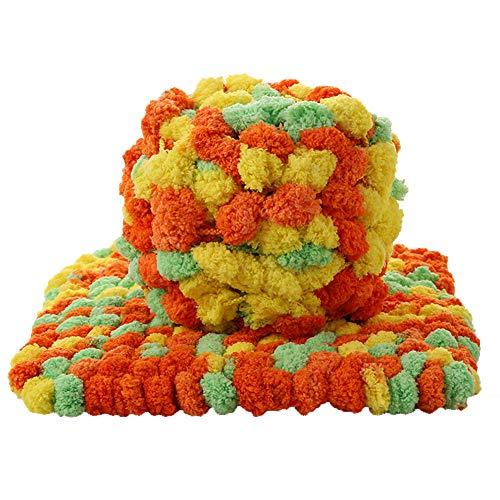 Chunky Knit Chenille Yarn,Baby Chenille Yarn Super Chunky Yarn Polyester  Extreme Soft Arm Knitting Yarn,Hand Knitting Yarn,DIY Chunky Blanket