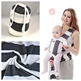 Adorables Baby Wrap Baby Carrier Baby Sling - Stretchy Breathable & Soft – Grey White Colour
