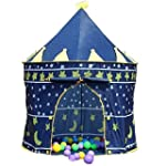 CHILDRENS BLUE POP UP CASTLE TOY PLAY...