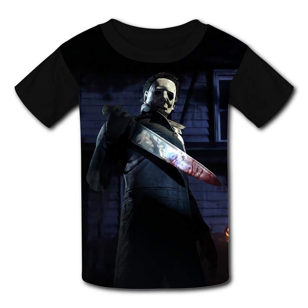 MOEYBOR Mi-Chael-Myers Killer T-Shirts,Fashion Scare Tee for Kids//Teen//Boys//Girls