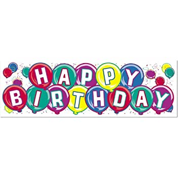 Happy Birthday Sign Banner Party Accessory 1 Count Pkg