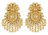 Ethnic Traditional Bollywood Fashion Gold Plated Polki Indian Earrings Partywear Jewelry